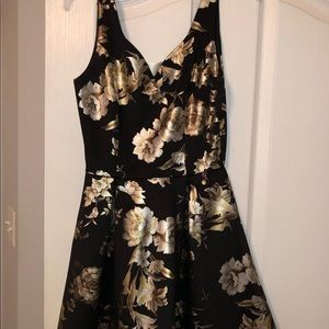Black and Gold Francesca's Boutique Dress